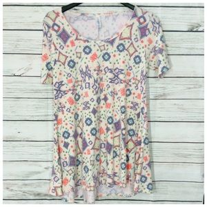 New Lularoe Perfect Tee Print Top XS